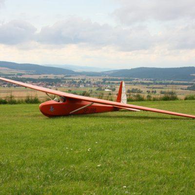 DIe Komar im Flugbetrieb, Spannweite fast 4m