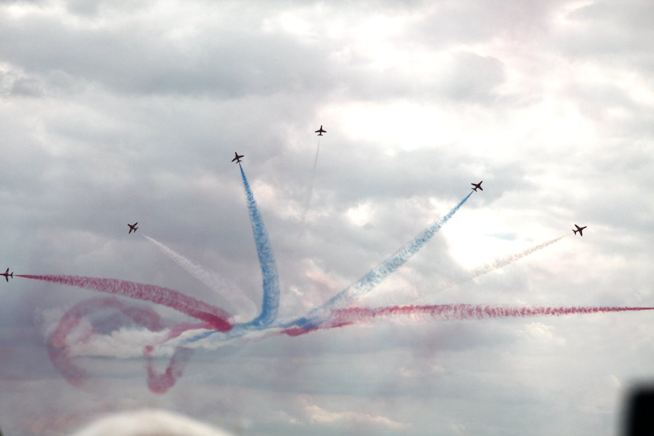 Die Red Arrows in Perfektion