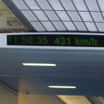 Dafür hat der Zug gerade mal rund 7 Min 20 sec gebraucht