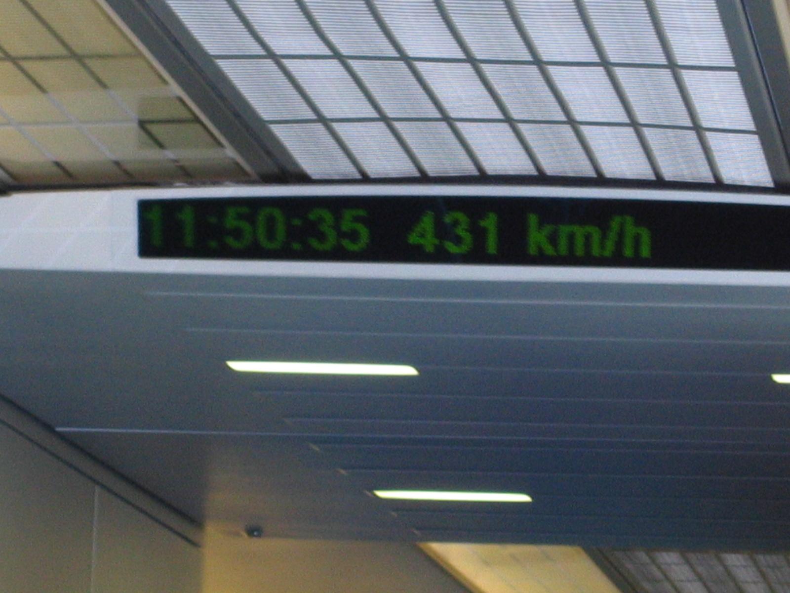 Für die rund 30km hat der Zug gerade mal rund 7 Min 20 sec gebraucht