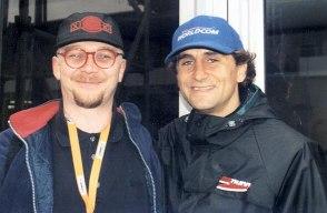 Mit Alessandro Zanardi 2001. Am nächsten Tag verlor er beide Beine bei einem Rennunfall