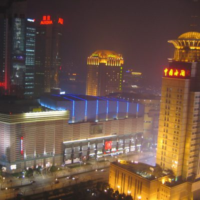 Der Blick Richtung Shangri-La Hotel