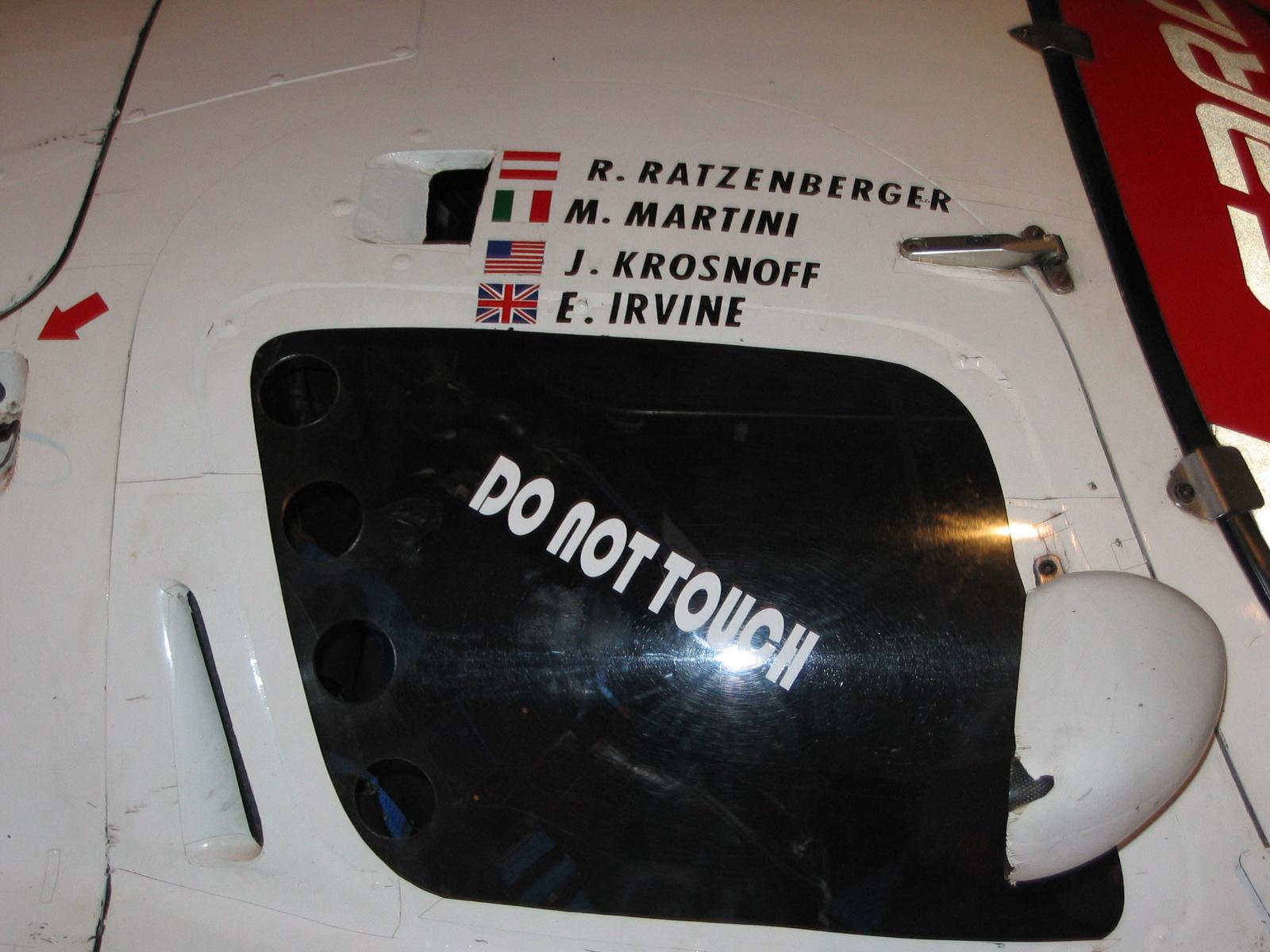Berühmte Namen, Ratzenberger verstarb 2 Monate zuvor, Krosnoff 2 Jahre danach bei Rennen