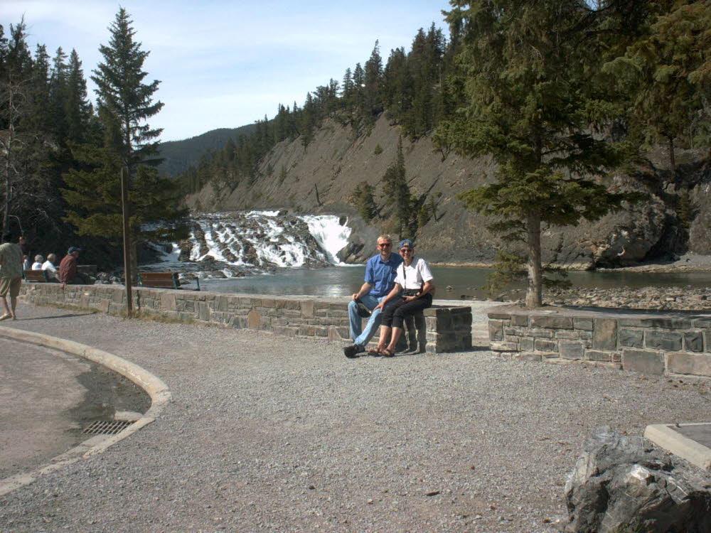 Bow Falls, mit relativ wenig Wasser