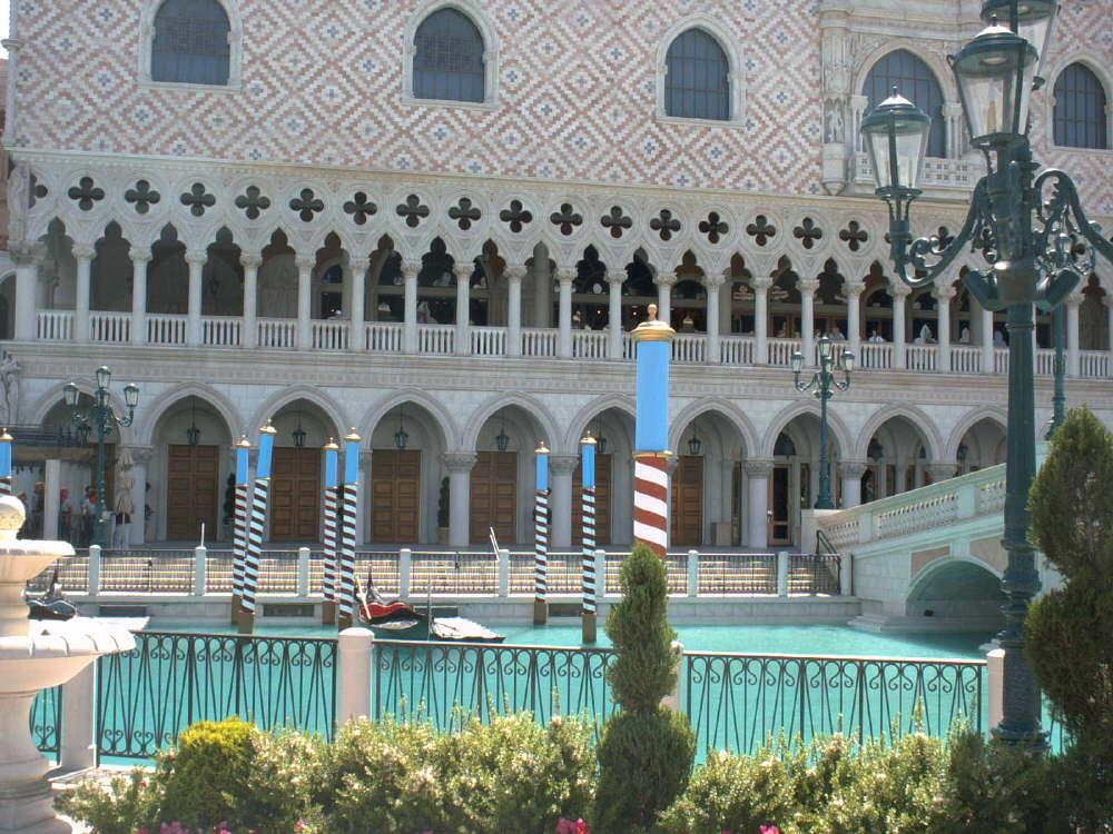 Das Venetian, hier kann man durch das Hotel Gondeln!