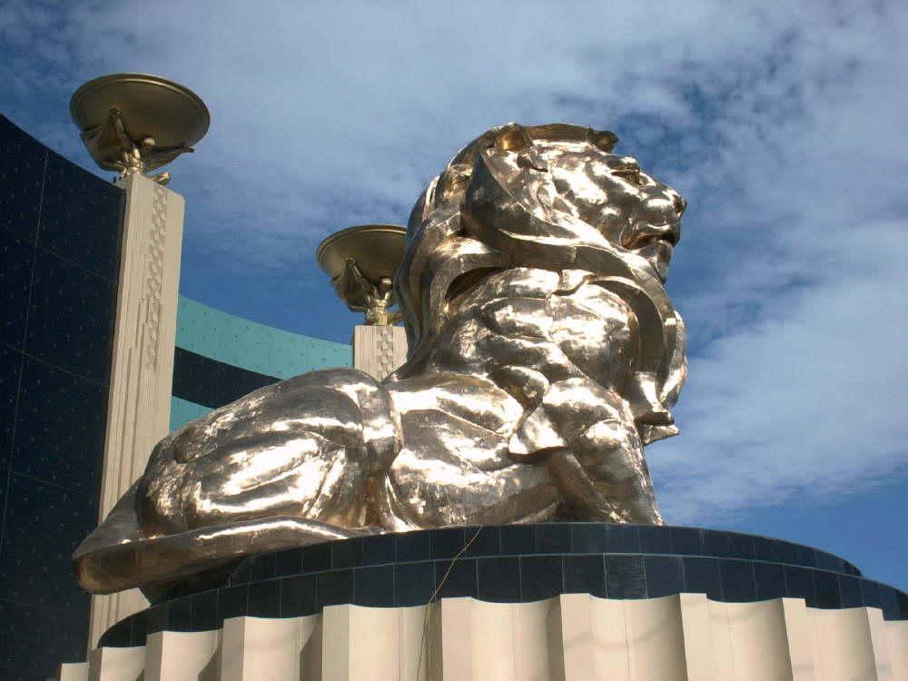 Der Löwe vorm MGM Grand Hotel