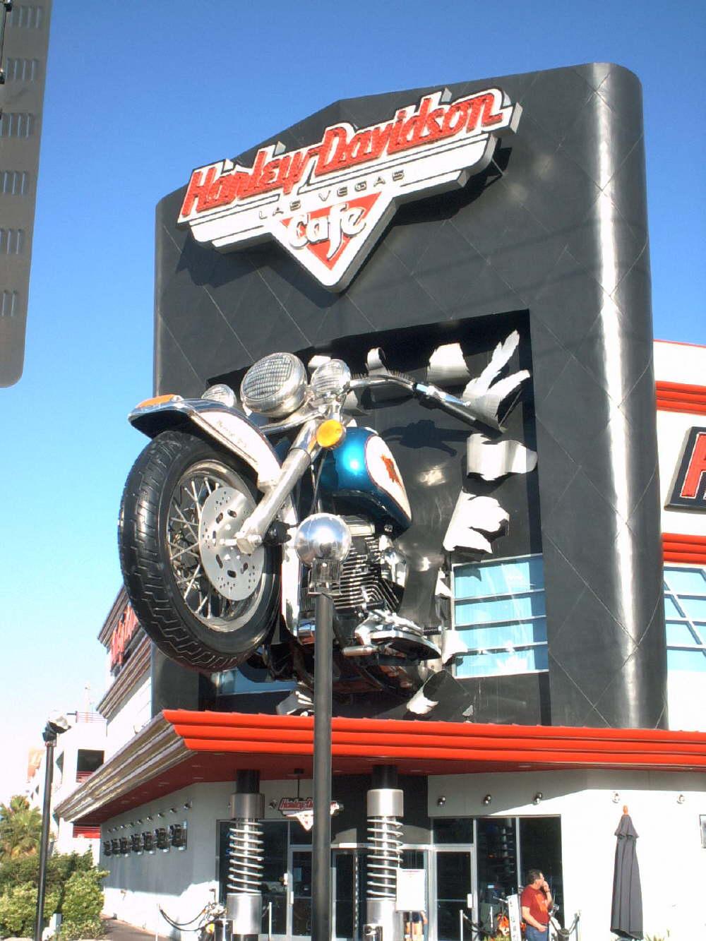 Harley Davidson gibt es natürlich auch in Las Vegas