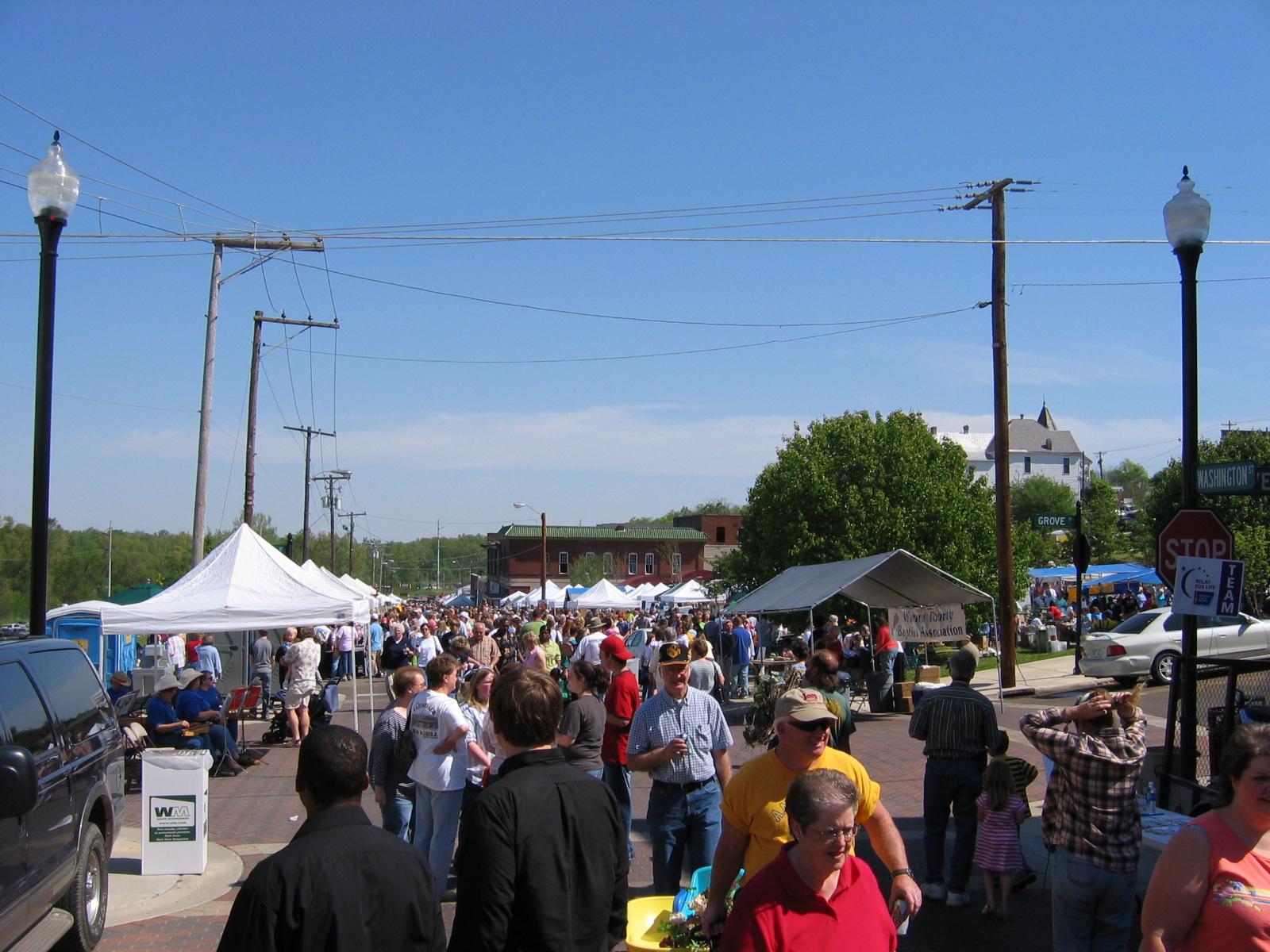 Das Mississippi River Fest stand an jenem Wochenende an