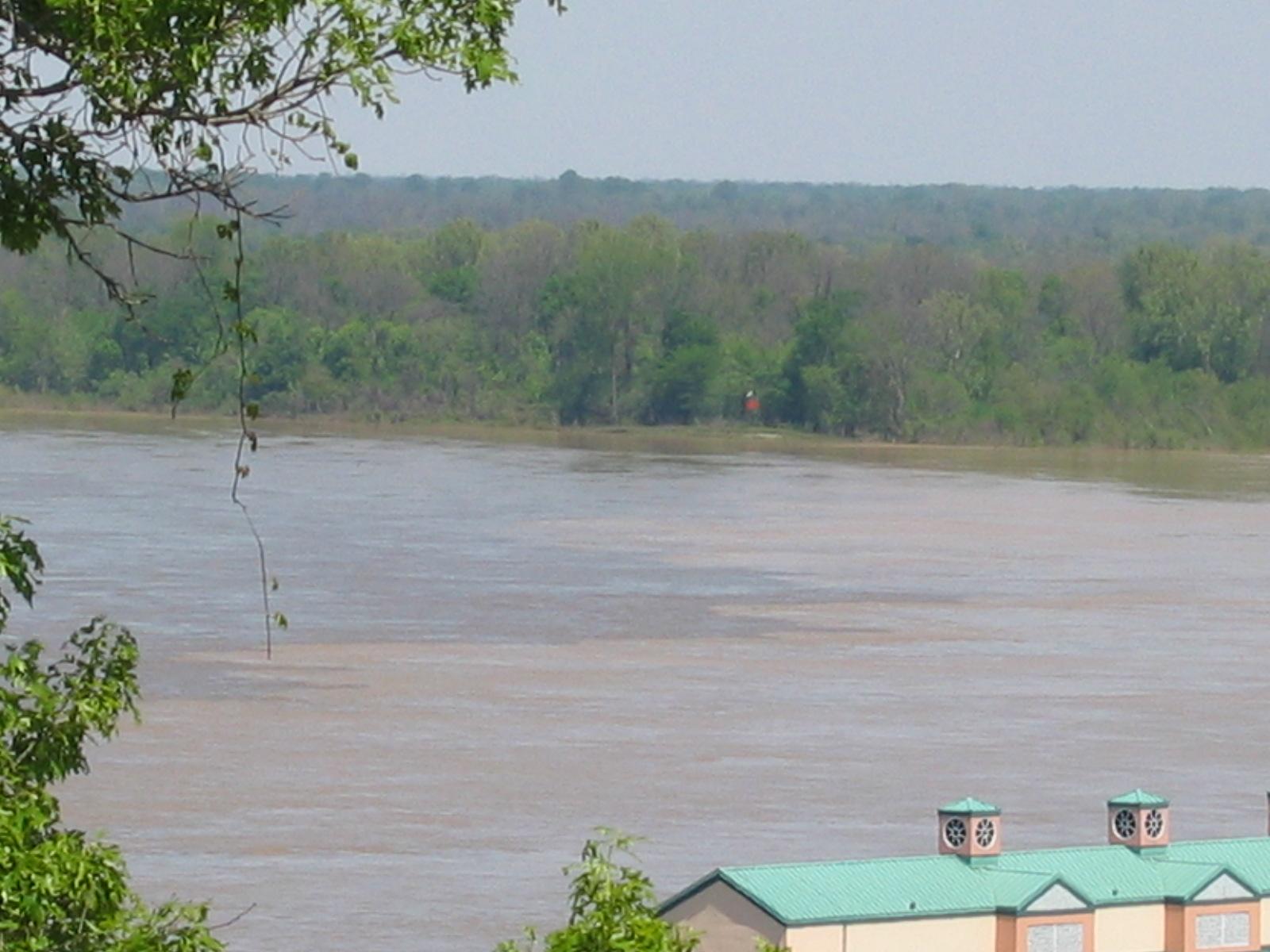 und dem Zusammenfluss von Yazoo River und dem Mississippi