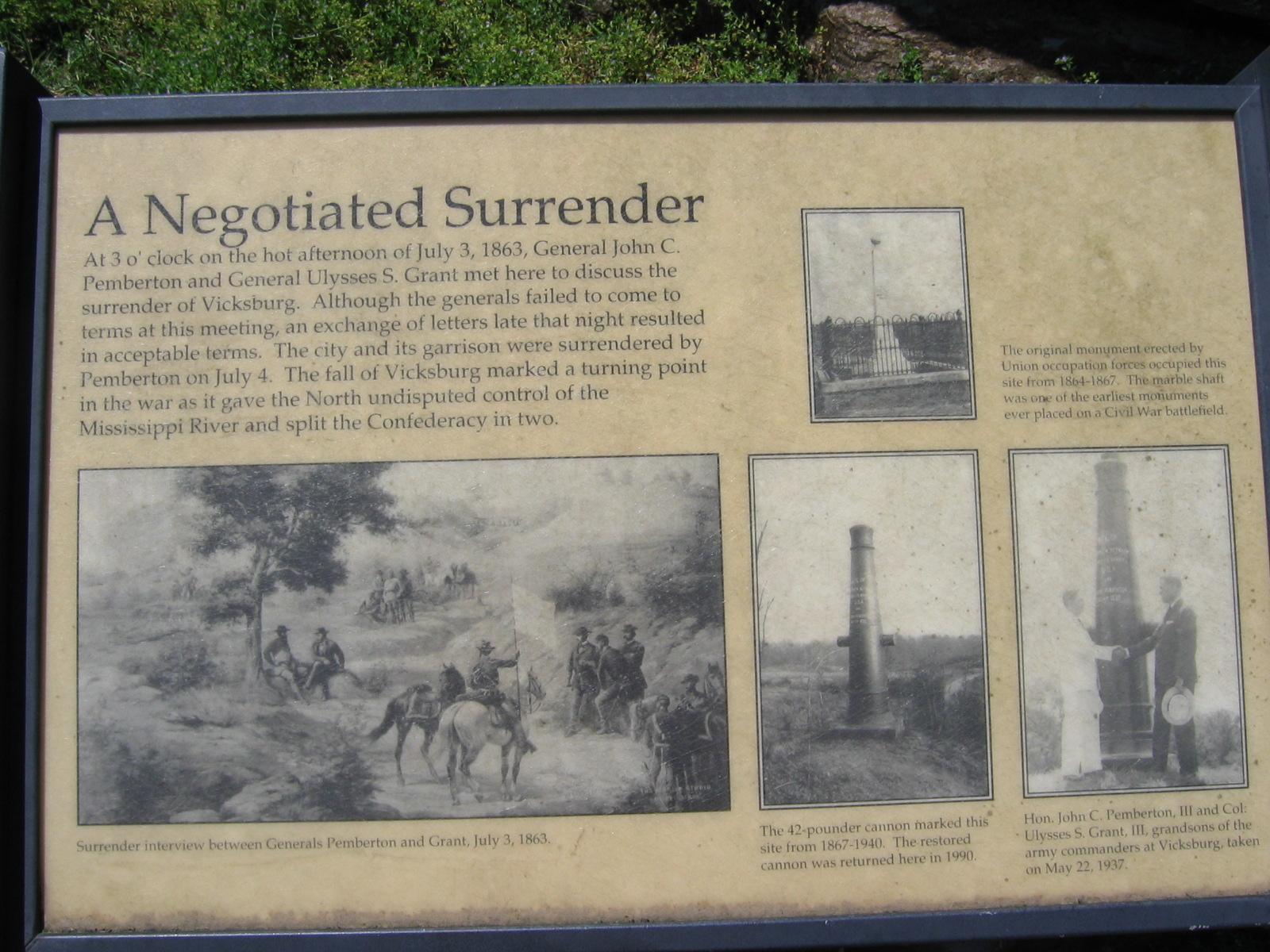 Die Tafel mit Details zur Geschichte