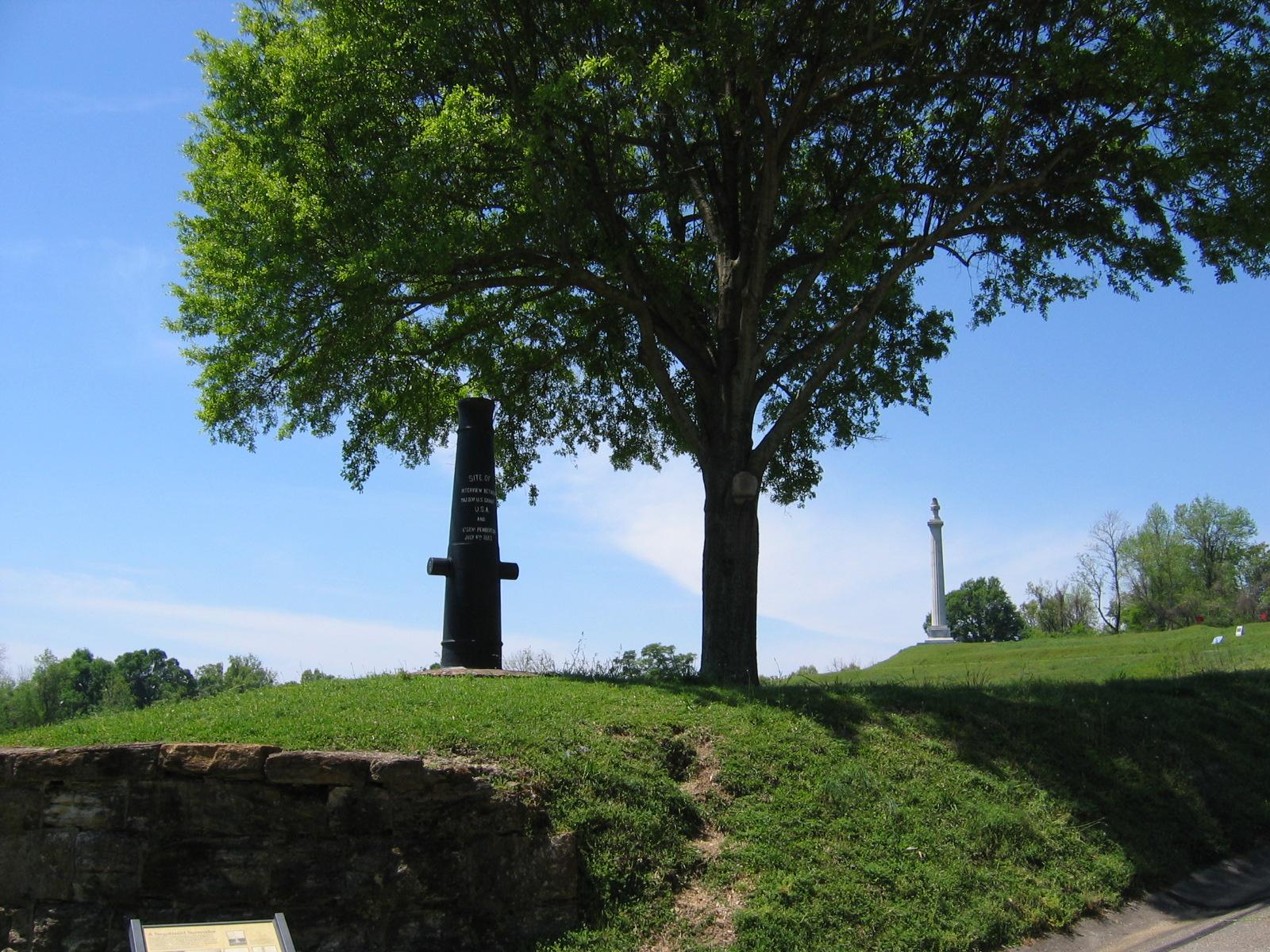 Unter diesem Baum haben Pemberton und Grant die Kapitulation Vicksburgs verhandelt